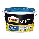 Pattex Teppich und PVC Kleber Universal, starker Kleber für PVC-Beläge & Teppiche, Teppichkleber für Fußbodenheizung geeignet, stuhlrollenfester Klebstoff, 1x4kg