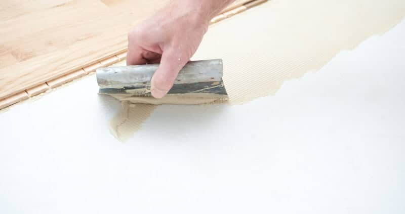 Glue parquet glue to the parquet and glue
