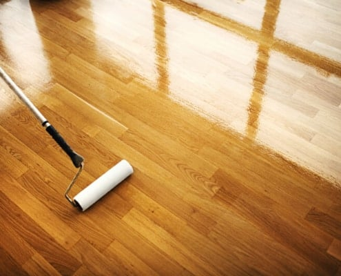 Parquet sealing with the right parquet lacquer