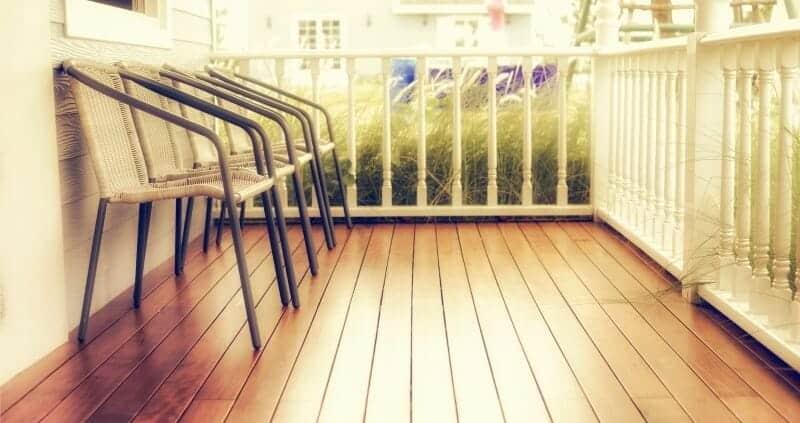 Vinyl floor outdoor sits outside