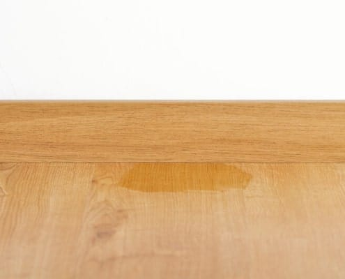 Remove water stains from parquet