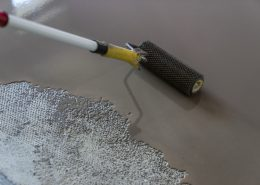 Filling of vinyl floor surface