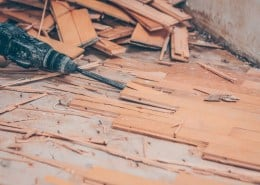Remove/rip out the parquet: this is how it works
