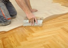 Filling parquet joints correctly