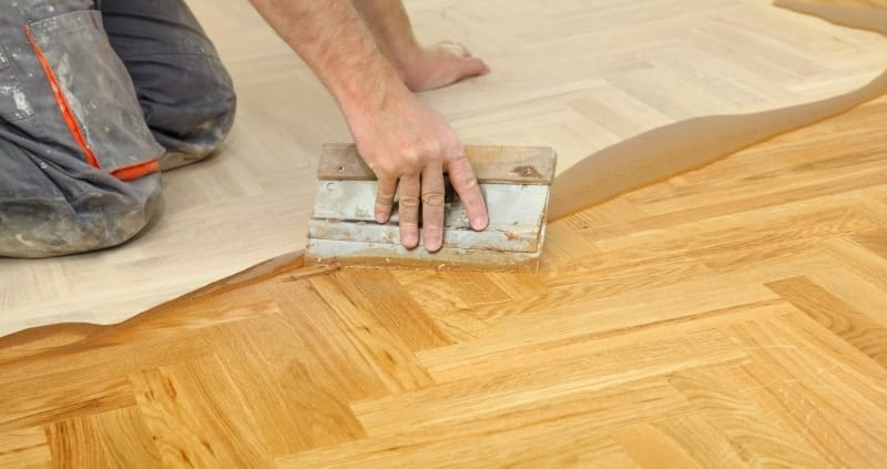 Parquet joints fill properly