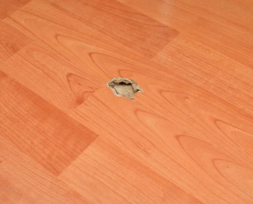 Repair parquet scratches, holes and so on