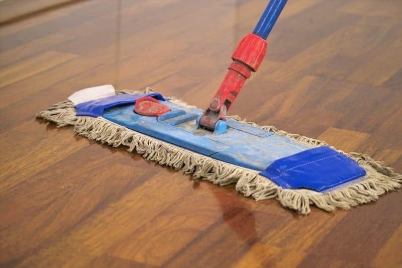 Clean hardwood flooring properly