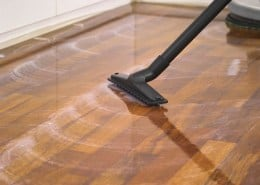 Clean parquet and floorboards properly