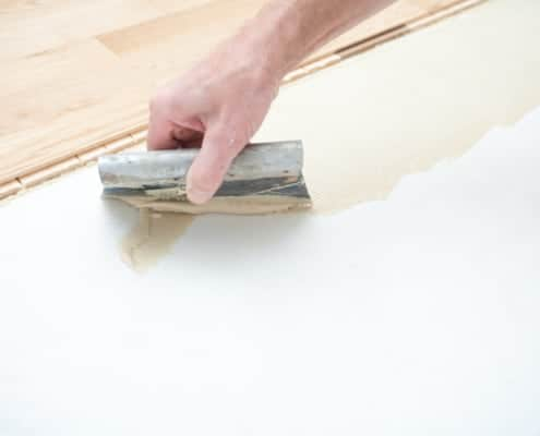 Glue parquet glue to the parquet and glue