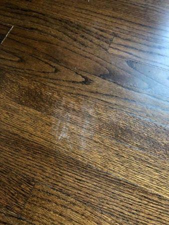 Minor scratches in wood flooring