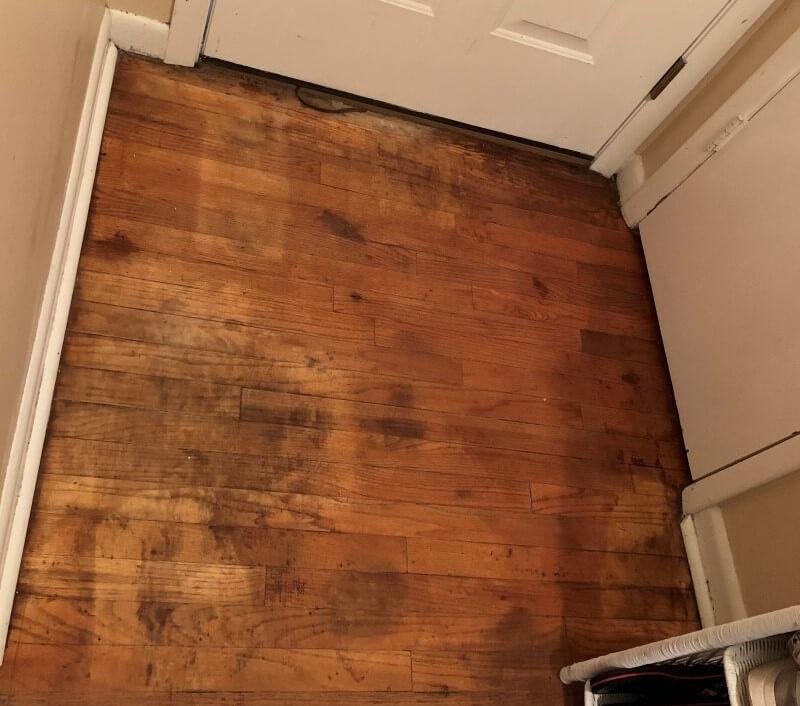 black stains on hardwood floors