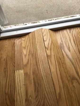 buckled hardwood floors