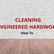 how to clean engineered wood