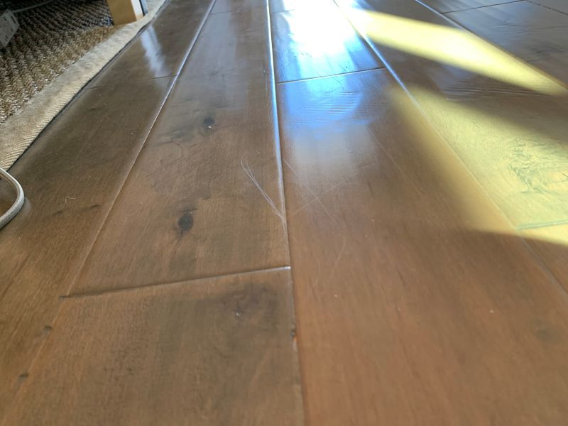 light scratches on engineered wood flooring