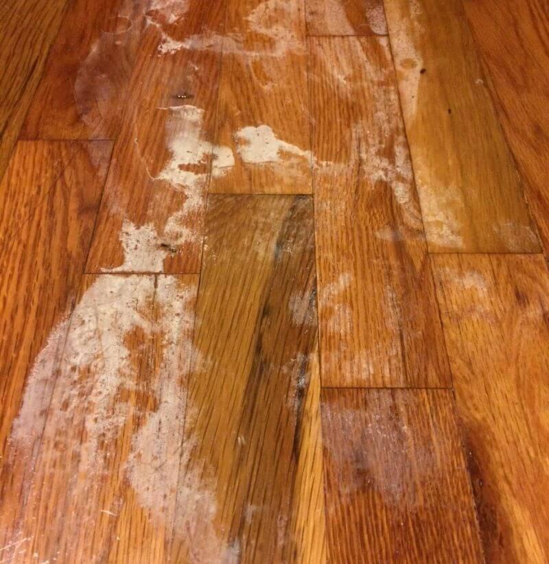 nail polish on hardwood floors