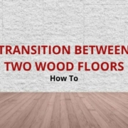How to transition between two wood floors