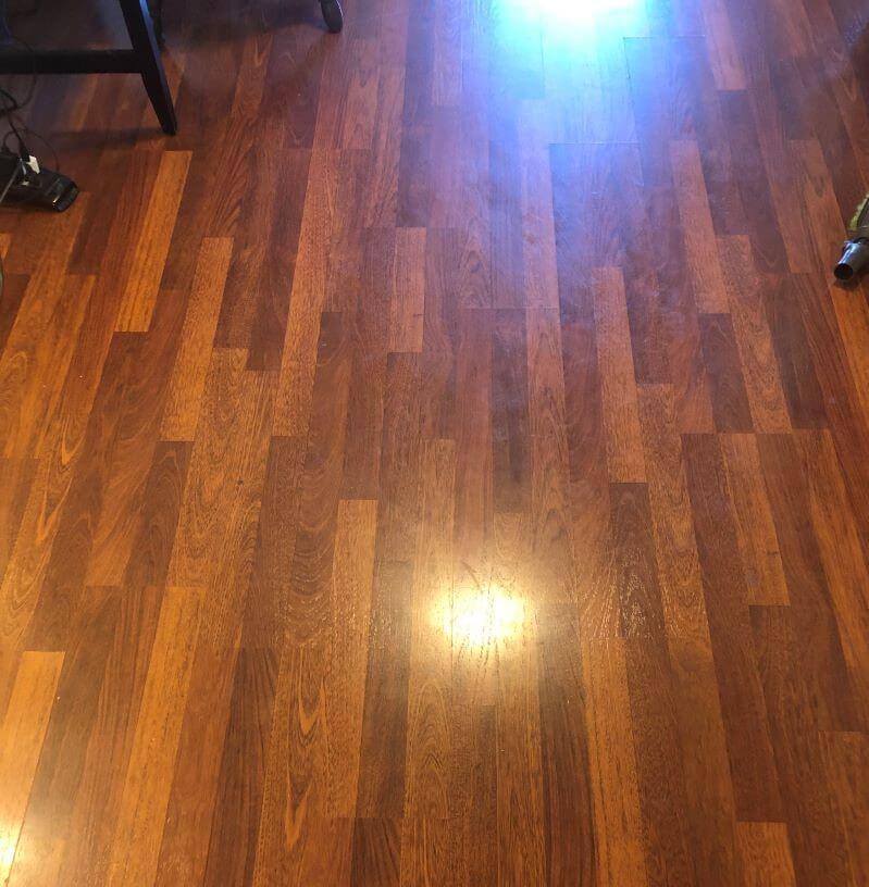 shiny laminate floor