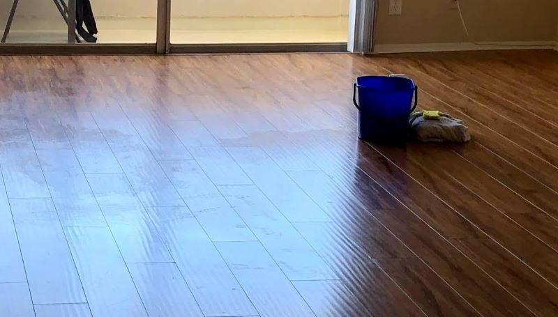 wax buildup on laminate floors