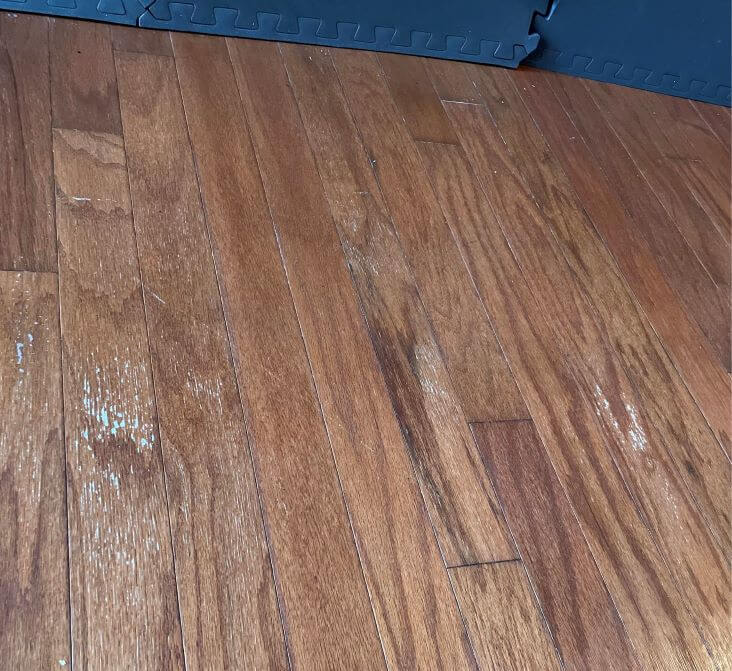 white spots on hardwood floors