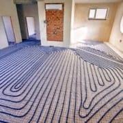 Laying vinyl floor on underfloor heating